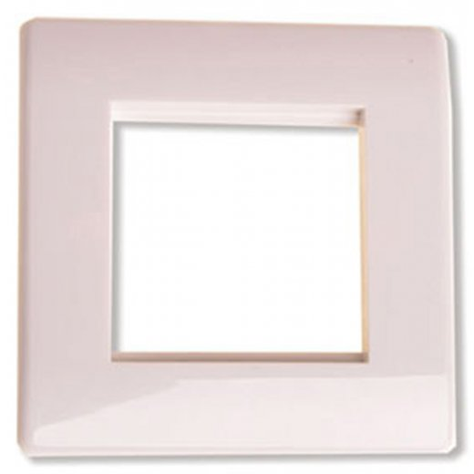 Antiference 2 Module Screwless Arched Wall Plate White