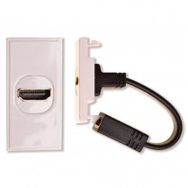 Antiference HDMI Insert with Fly lead Module White