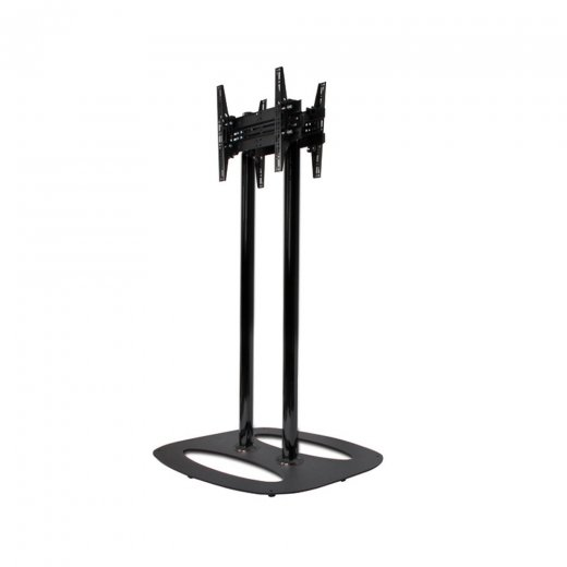 B-Tech Back-to-Back Flat Screen Floor Stand - 1.1m Black/Black