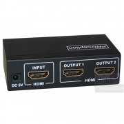 Blake UK 2 Way HDMI Splitter with 1 Input and 2 Outputs