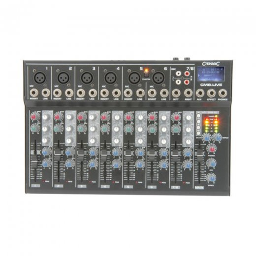 Citronic CM8-LIVE Compact Mixer 8 channell + USB/SD Player