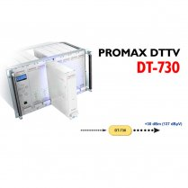 Promax DVB-T Single Input 1 Watt (137dBµV) Power Amplifier