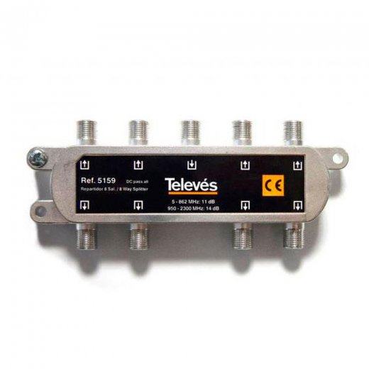 Televes 8 Way F Type Splitter 5-2400MHz
