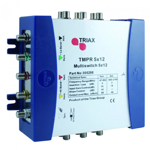 Triax TMPR 5 x 12 Receiver Powered Multiswitch